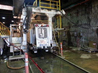 Caboose cab of second machine (digging southbound tunnel).
