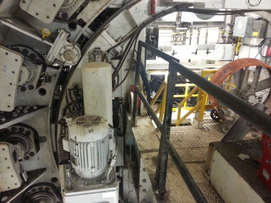 Inside the nerve center of the drilling rig head of #2.